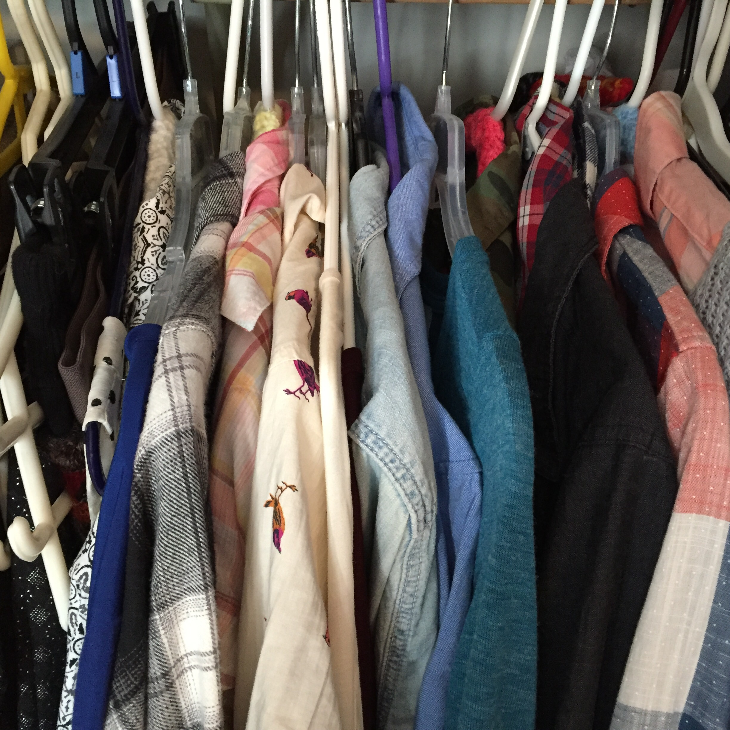 cluttered closet need wardrobe edit